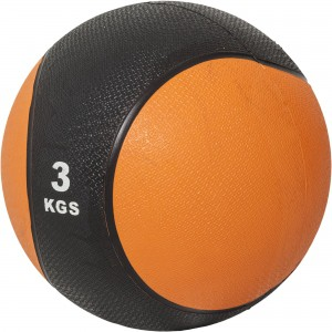 Médecine ball 3kg orange/noir