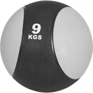Médecine ball 9kg gris/noir