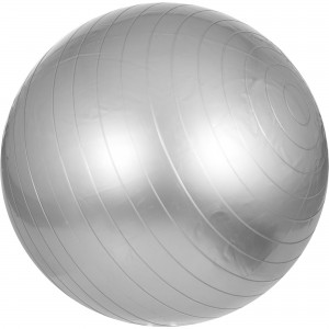 Swiss ball - Ballon de gym 75cm Gris