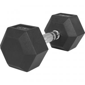 1 x  12,5kg Haltère Hexagonal en Caoutchouc