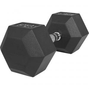 1 x  20kg Haltère Hexagonal en Caoutchouc