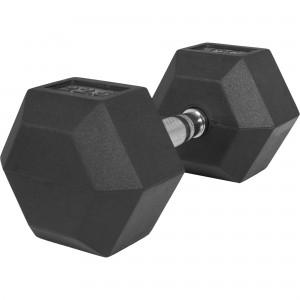 1 x  22,5kg Haltère Hexagonal en Caoutchouc