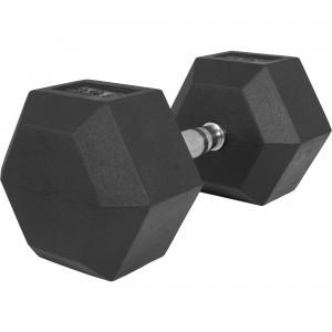 1 x  32,5kg Haltère Hexagonal en Caoutchouc