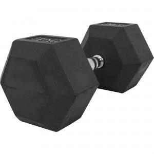 1 x  35kg Haltère Hexagonal en Caoutchouc