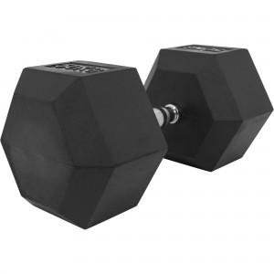 1 x  50kg Haltère Hexagonal en Caoutchouc