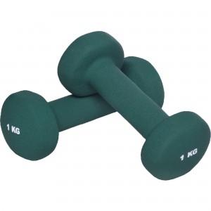 2 KG (2x1,0) Haltères fitness en vinyle vert