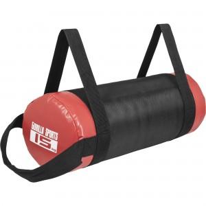 Fitness bag noir/rouge - Sac lesté 15kg