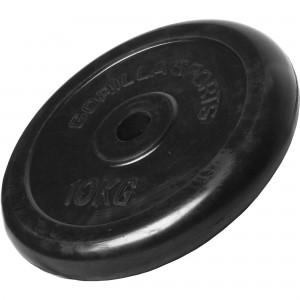 Poids disque en caoutchouc de 10 kg