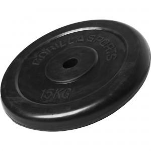 Poids disque en caoutchouc de 15 kg