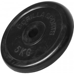 Poids disque en caoutchouc de 5 kg