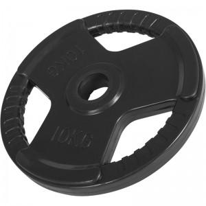 Poids disque 51mm en fonte revêtement caoutchouc de 10kg avec poignée