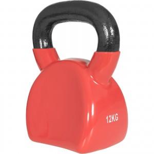 Ergonomique kettlebell en fonte avec revetement en vinyle de 12kg