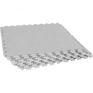 Tapis de protection interconnectables de 1,2cm en mousse - EVA 8 carré de 60x60cm gris