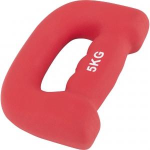 """Paire 10kg (2x5kg) Haltères fitness en néoprène ergonomique """"letter shape dumbbells"""""""