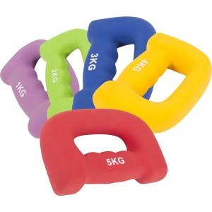 """Haltères fitness en néoprène ergonomique """"letter shape dumbbells"""""""