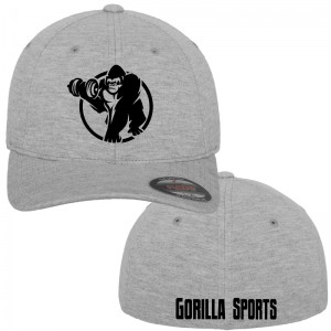 Casquette Gorilla Sports FLEXFIT Double Jersey heather L/XL