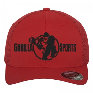 Casquette Gorilla Sports FLEXFIT Tactell Mesh rouge L/XL