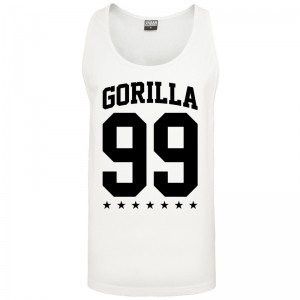 Gorilla Sports tank top blanc – GORILLA 99 - M