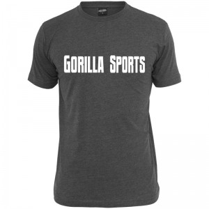 Gorilla Sports T-Shirt charcoal – GORILLA SPORTS - XXL