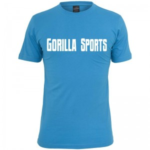 Gorilla Sports T-Shirt turquoise– GORILLA SPORTS - M