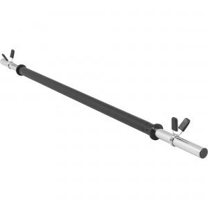 Barre d'aérobic légère 130cm x 30mm avec embouts chromés