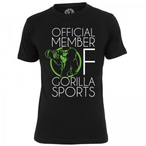 GS001 Official Member of Gorilla Sports T-Shirt  noir - M