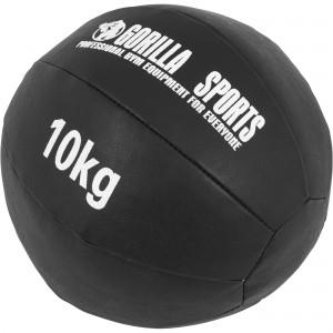Médecine Ball Gorilla Sports Cuir Synthétique de 10 KG
