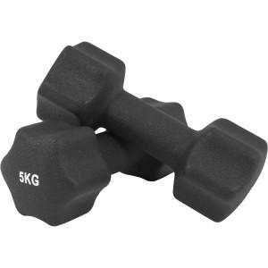 Paire d'Haltères Fitness en néoprène 10 KG (2x5.0)