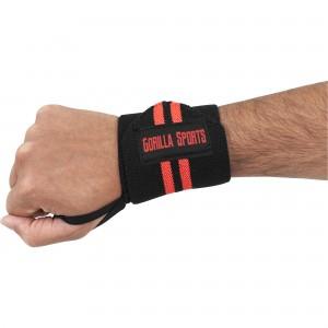 Bande de maintien poignet Noir-Rouge Gorilla Sports