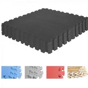 Tapis de protection interconnectables de 1,2cm en mousse - EVA 8 carré de 60x60cm Couleurs disponible : Noir, Rouge, Gris, Bleu