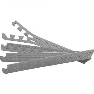 8 x Embouts de finition pour Tapis de protection 1,2cm en mousse EVA GRIS