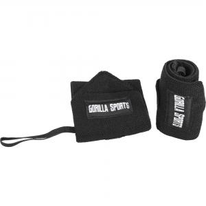 Bande de maintien poignet noir Gorilla Sports