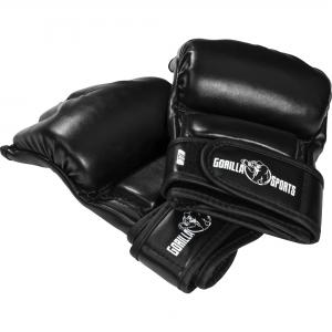 Gants de boxe - Mitaines arts martiaux Gorilla Sports MMA noir
