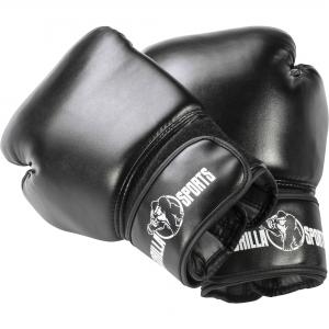 Gants de boxe professionnels Gorilla Sports coloris noir 10 Oz – 16 Oz