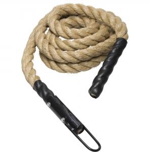 Corde d'entrainement de 4m diamètre 3,8 - Power Rope - avec crochet - fixation plafond pour grimper de Gorilla Sports