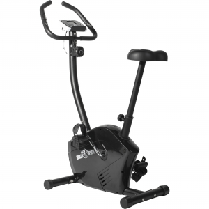 Vélo d'Appartement exercice cycle cardio réglable Noir Gorilla Sports