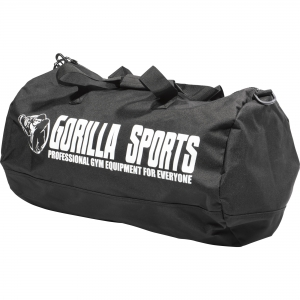 Sac de Sport noir unisexe pour adulte avec logo Gorilla Sports