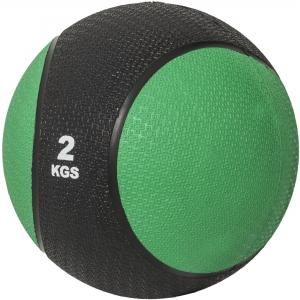 Médecine ball 2kg vert/noir