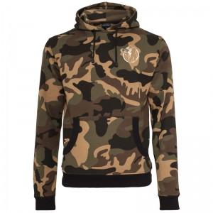 Gorilla Sports camo hoodie avec capuche – CREW logo blanc XXL