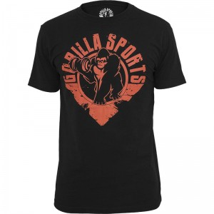 Gorilla Sports T-Shirt M noir/rouge