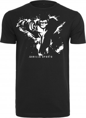 Gorilla Sports Basic Tee Black/White / M