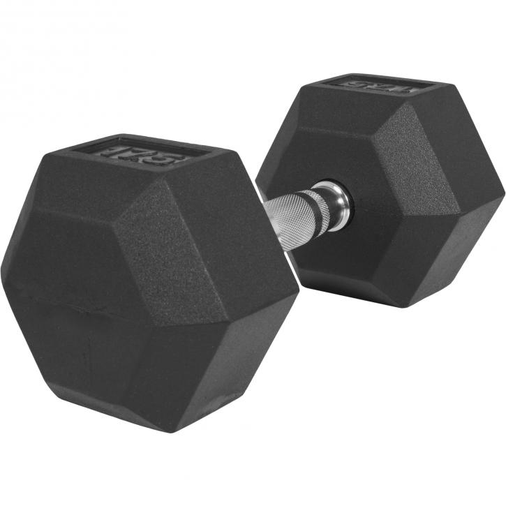1 x  17,5kg Haltère Hexagonal en Caoutchouc