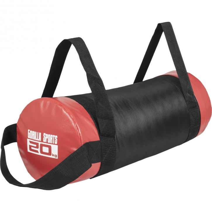 Fitness bag noir/rouge - Sac lesté 20kg