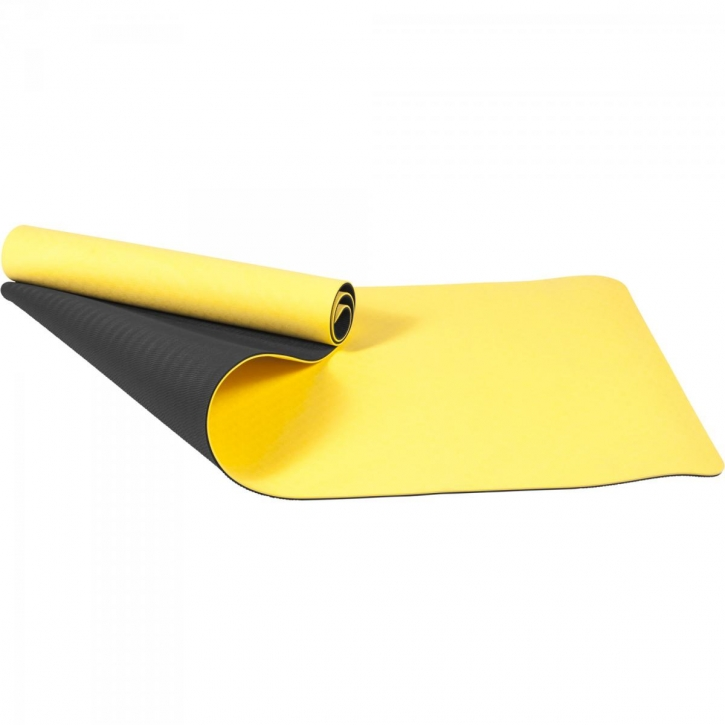 tapis de yoga pilates en tpe double face bicolor. Black Bedroom Furniture Sets. Home Design Ideas