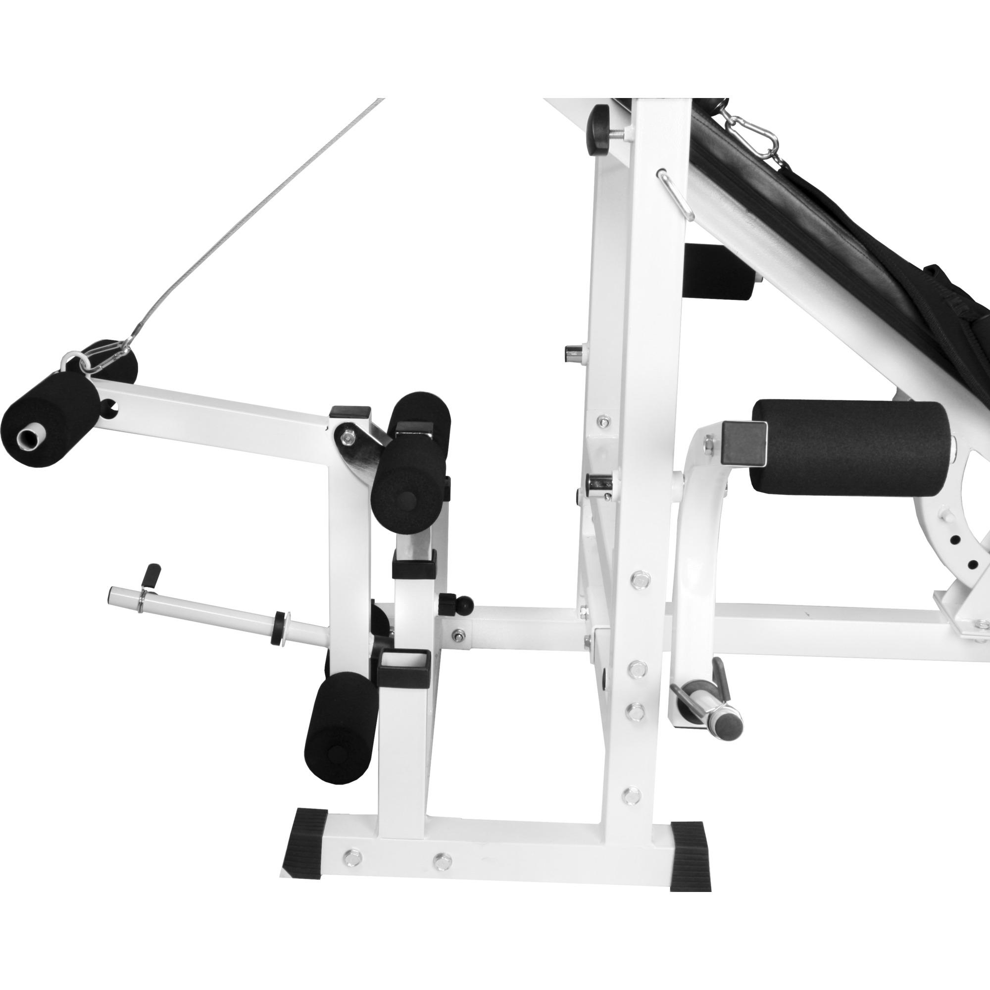 Banc de musculation universel avec support pour halt res blanc gs005 universalyf e55 - Banc de musculation gorilla sport ...