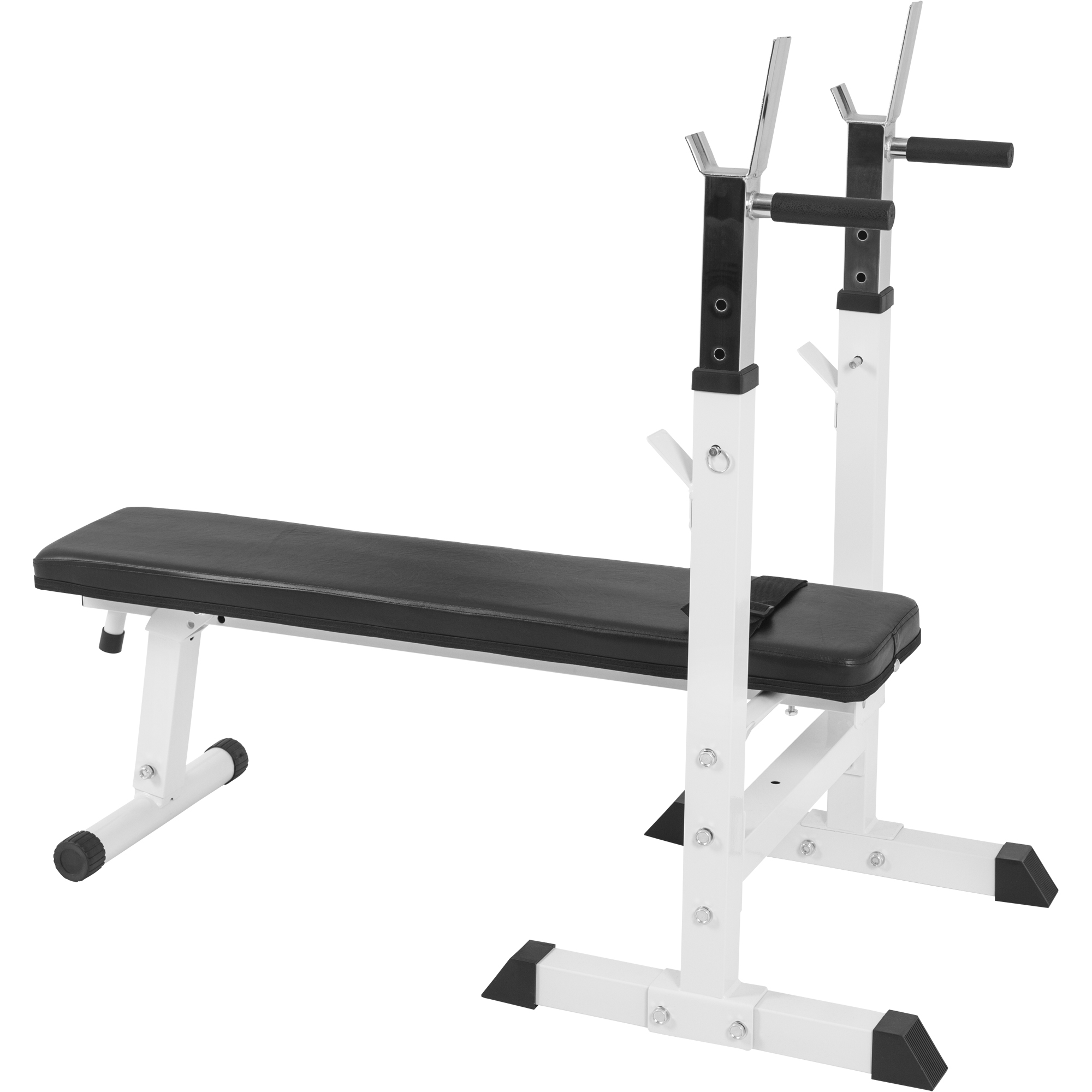 banc de musculation avec support de barres 10000118 blanc 10000118white. Black Bedroom Furniture Sets. Home Design Ideas