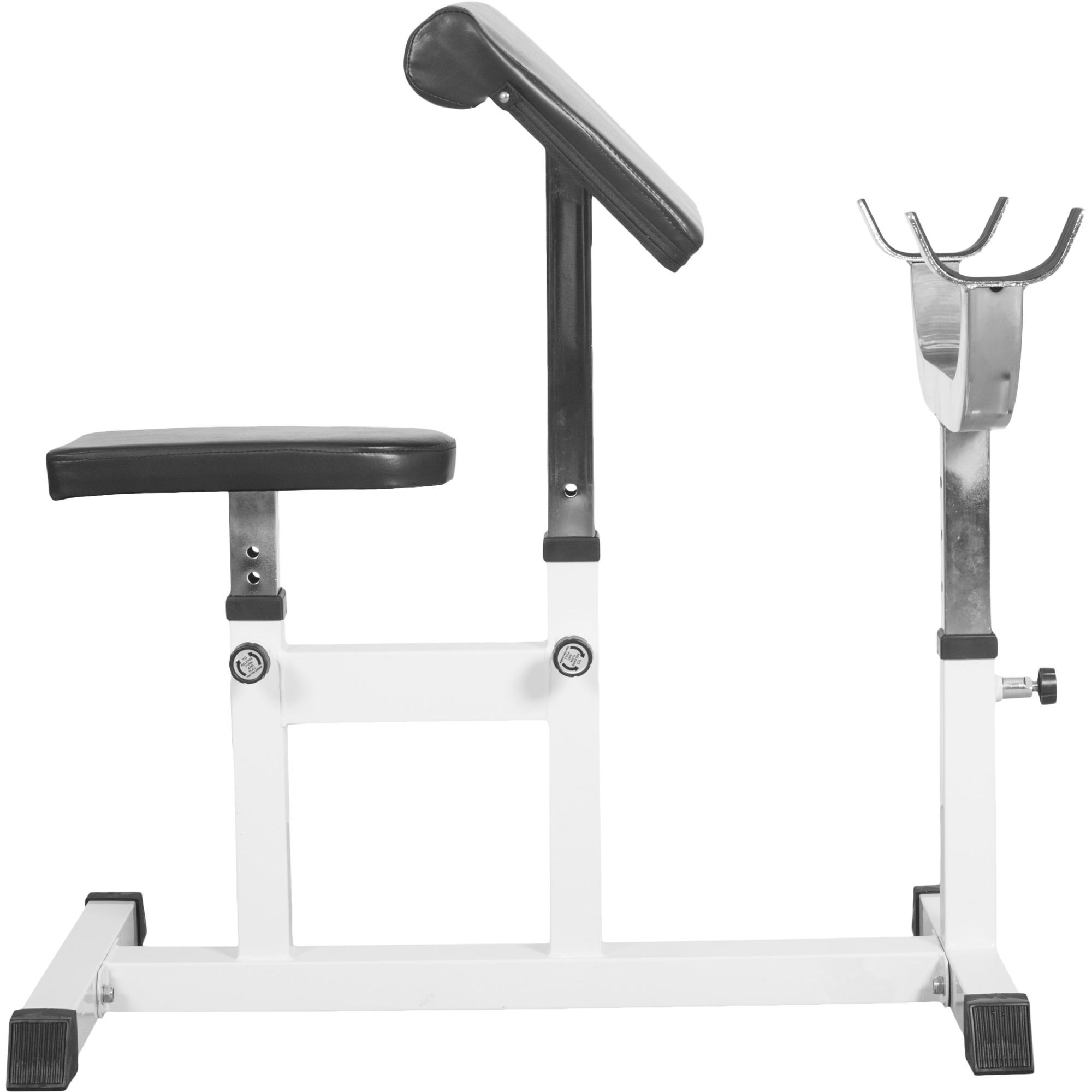 Banc de musculation curl pour entrainer les biceps gs007 preachercurlbm 526 - Banc musculation go sport ...