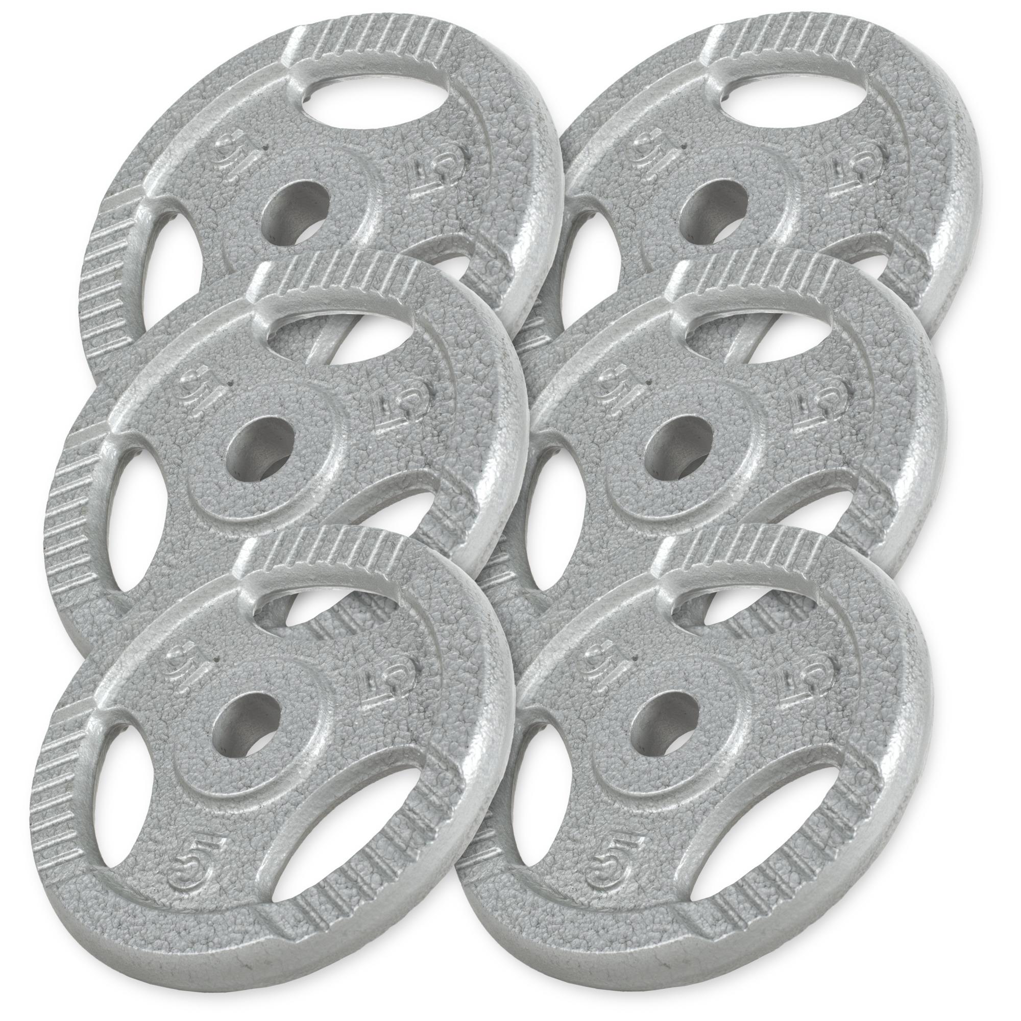 Gorilla-Sports-Disques-en-fonte-avec-poignees-31-mm-Gris-De-0-5-KG-a-20 miniature 9