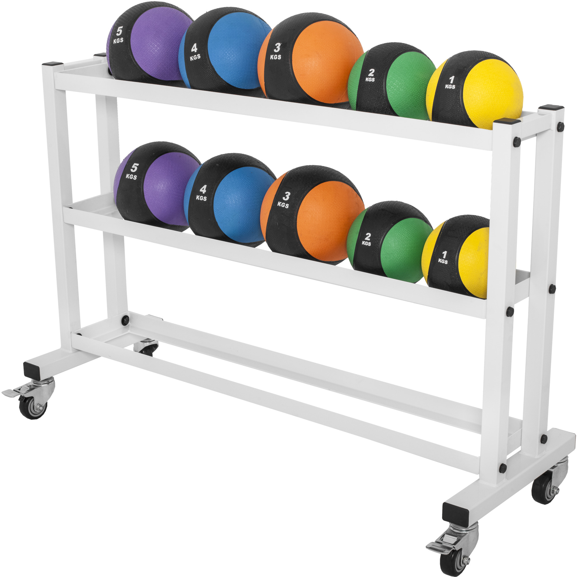 gorilla sports rack de rangement pour m decine balls ebay. Black Bedroom Furniture Sets. Home Design Ideas