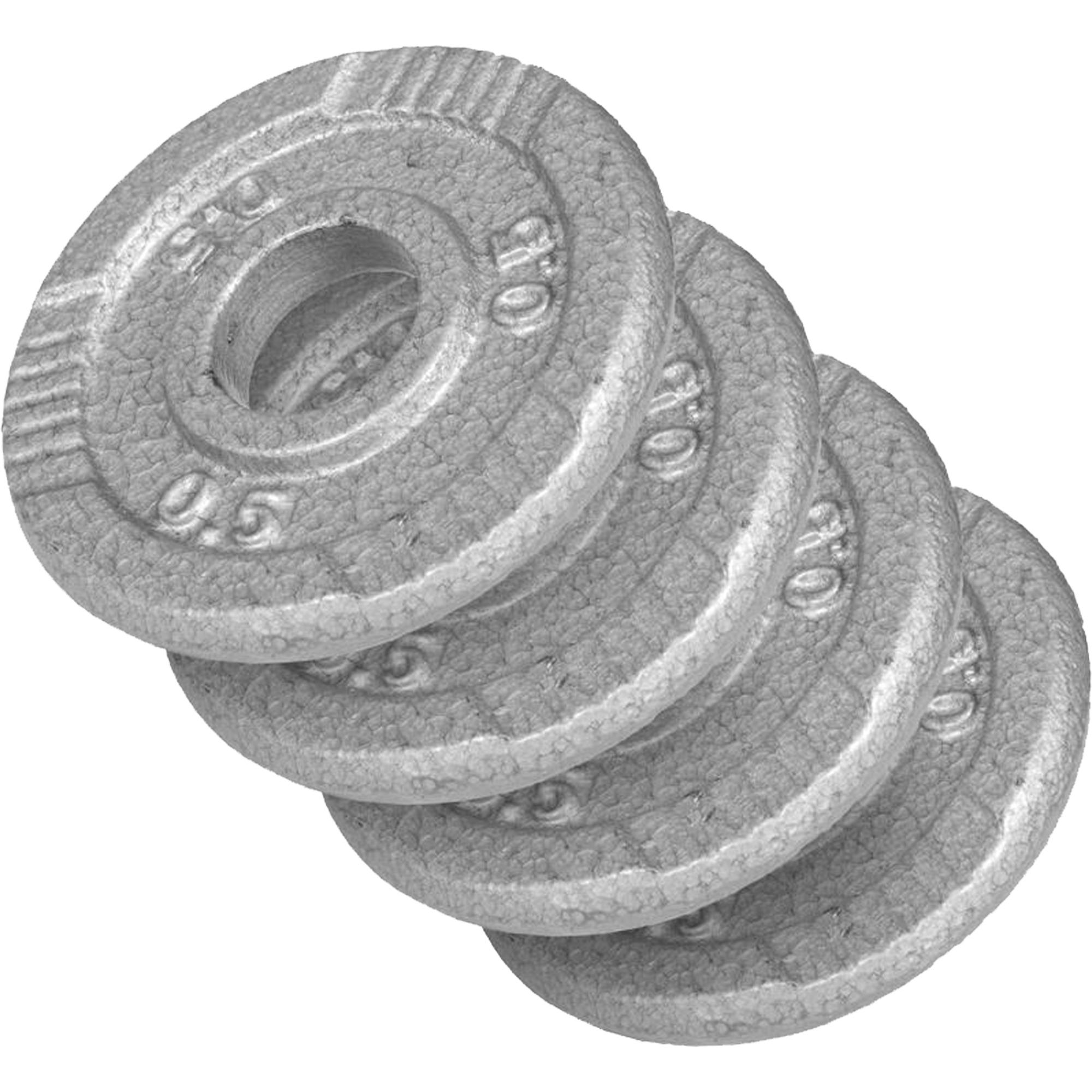 Gorilla-Sports-Disques-en-fonte-avec-poignees-31-mm-Gris-De-0-5-KG-a-20 miniature 7